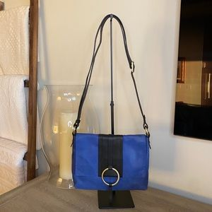 Nino BOSSI genuine leather blue & black crossbody